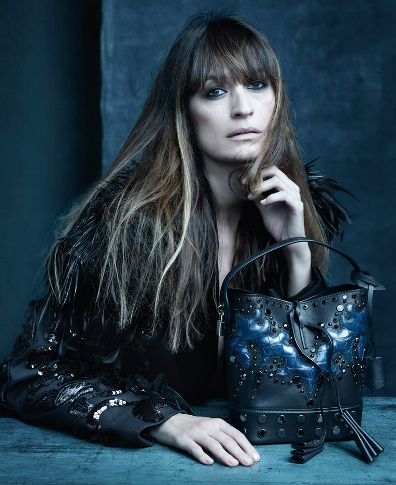 Caroline de Maigret retratada por Steven Meisel para Louis Vuitton.