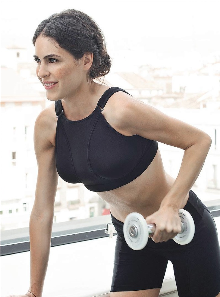 Pillow Bra durante una sesión de ejercicios